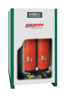 Durability Delivered CRN Series Refrigerated Air Dryers CRN Series refrigerated air dryers are engineered to benefit you today and tomorrow from the tradition of durability that is Champion.