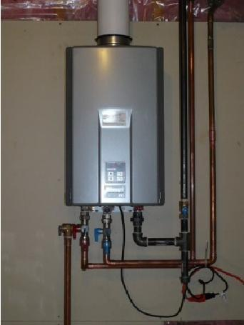 On-Demand Tankless Water Heaters For purposes of this survey, the term on-demand tankless water heater means an instantaneous-type unit which heats water but stores no more than one gallon of water