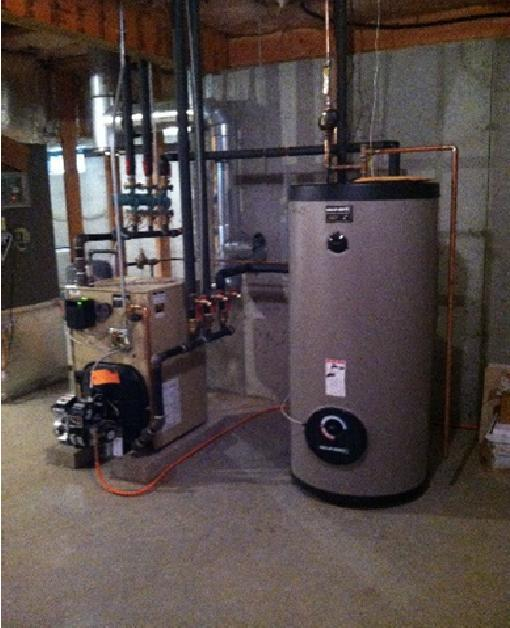 Indirect Water Heater Note, an indirect water heater means a product which heats water via a dedicated loop on a natural gas, oil, or propane boiler.