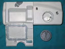 Detergent and Rinse Aid Dispensing System The detergent and rinse aid dispenser consists of two dispensers combined in one housing that are controlled with one wax motor actuator.