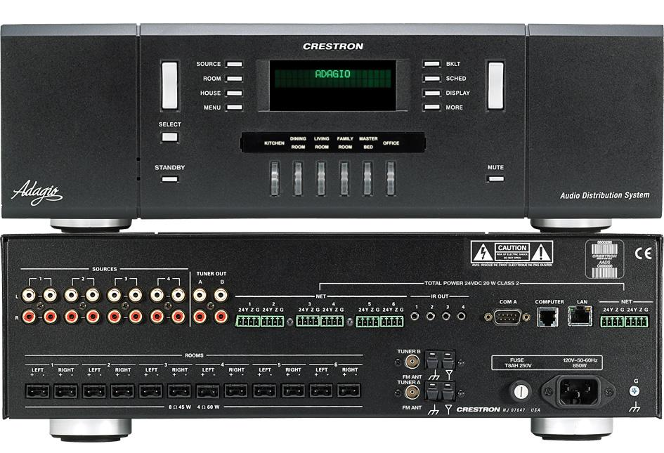 AADS Adagio Audio Distribution System The Adagio Audio Distribution System (AADS) from Crestron delivers a complete, low-cost solution for high-performance multi-room audio distribution.