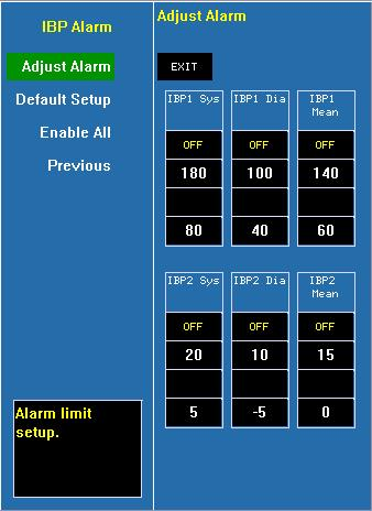 GAS Alarm Click and open the dialog of GAS alarm. It can setup the alarm limits of the GAS module. Alarm Record Click and open the dialog of alarm recording.