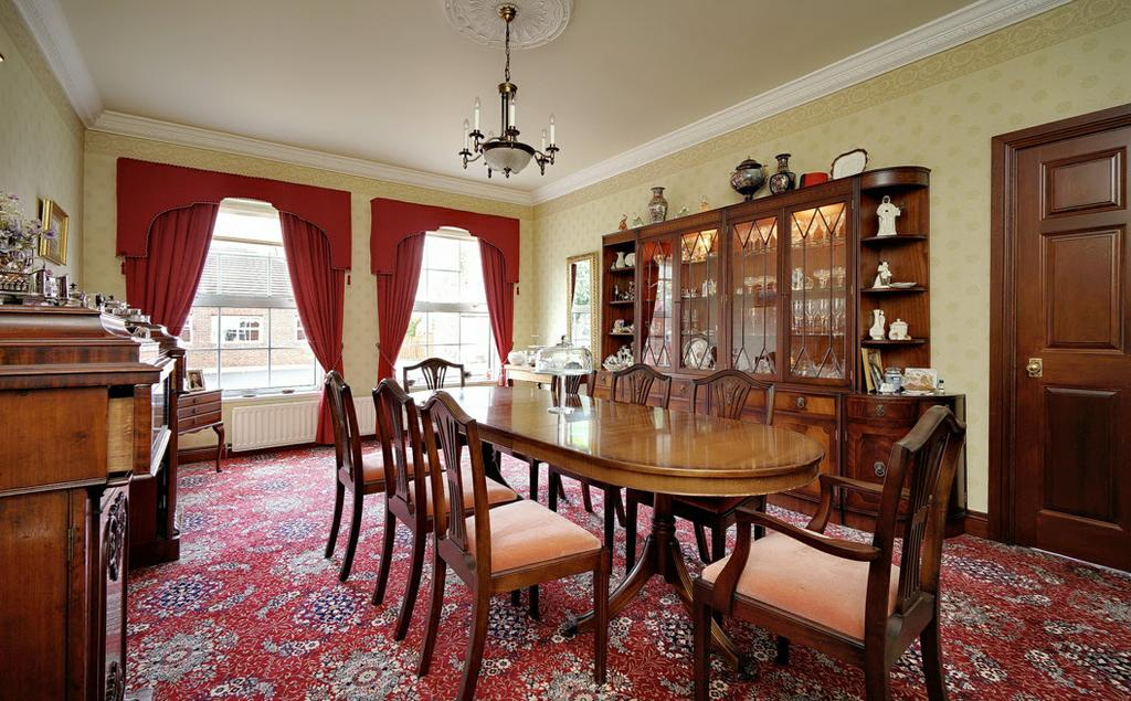"Mahogany double glazed doors to... DINING ROOM: 20' 0"" x 13' 9"" (6.1m x 4.2m) Cornice ceiling. KITCHEN WITH CASUAL DINING: 20' 0"" x 11' 6"" (6."