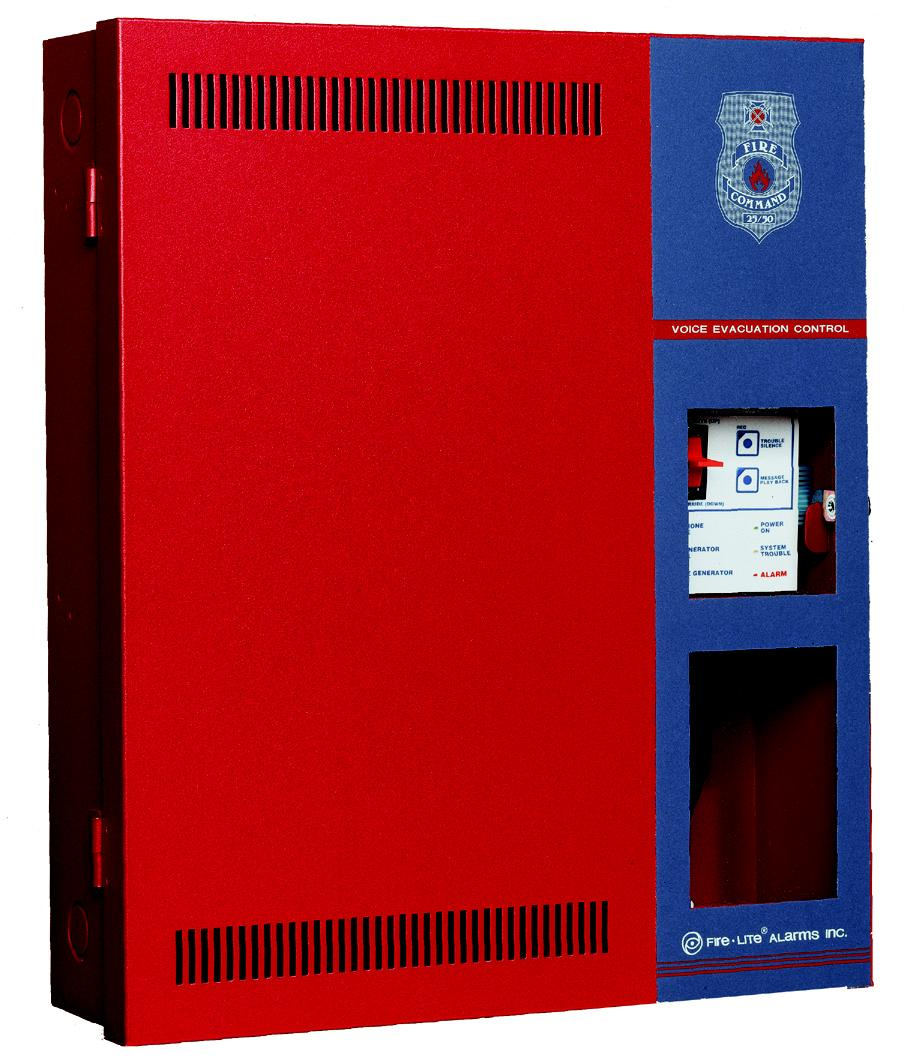 www.firelite.com GENERAL The Fire Lite FIRE COMMAND 25/50 is a state-of-theart, compact, stand-alone or slave Emergency Voice Evacuation Control Panel (VECP).
