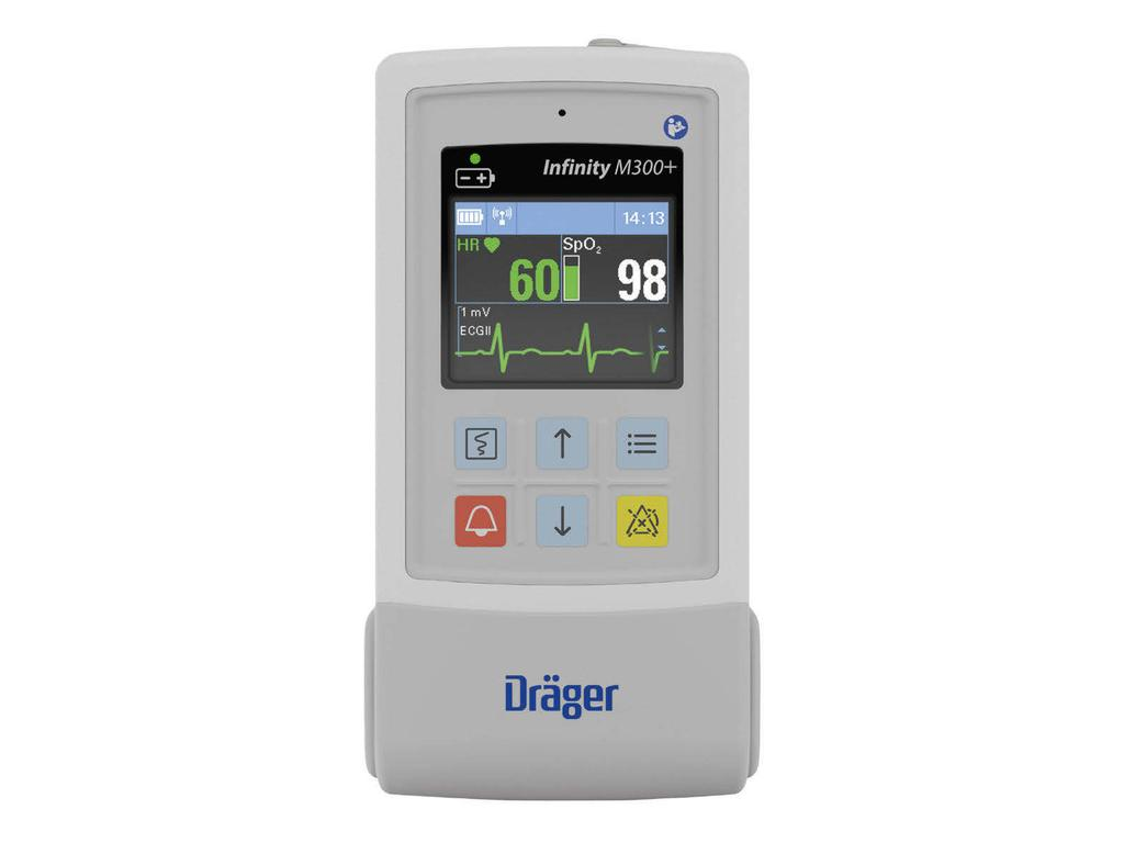 Infinity M300+ Telemetry The Infinity M300+ provides continuous surveillance of telemetry patients using the hospital s existing WiFi network The compact size supports patient mobility while the
