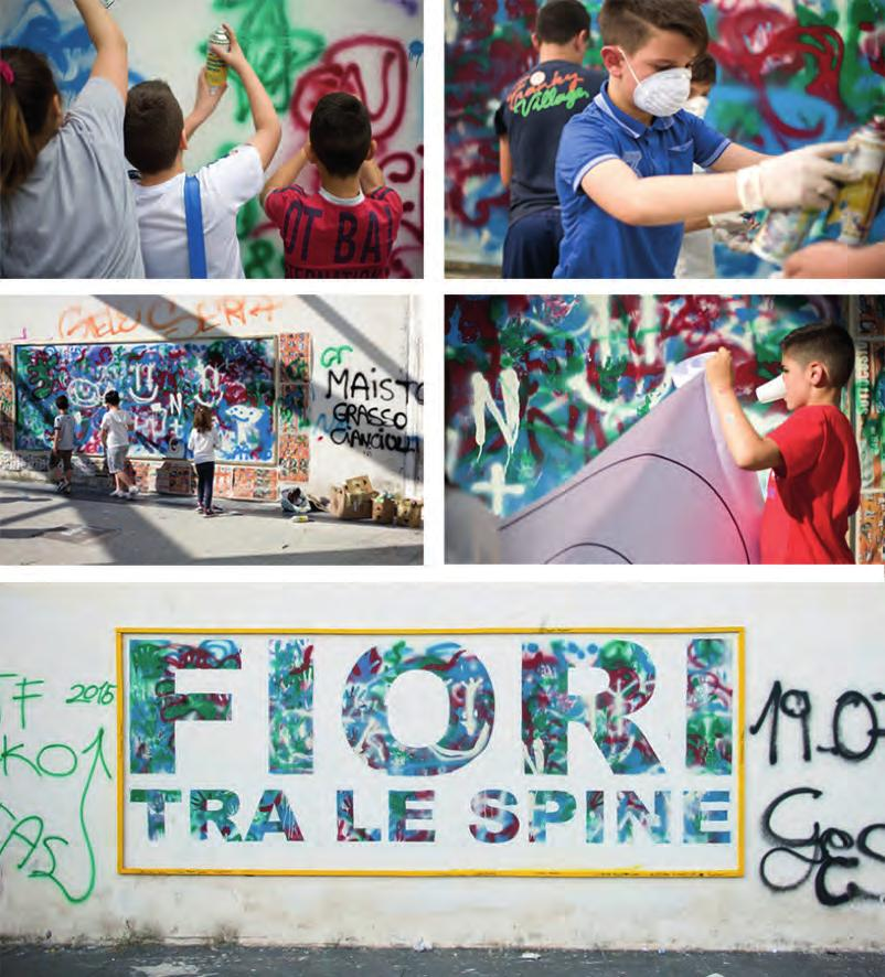Making of the mural FIORI TRA LE SPINE