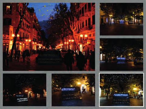 Epifanie della visione: light installation To work in a public space is an opportunity to realize the theater of word as well as it becomes an occasion to experience the way with which users relate
