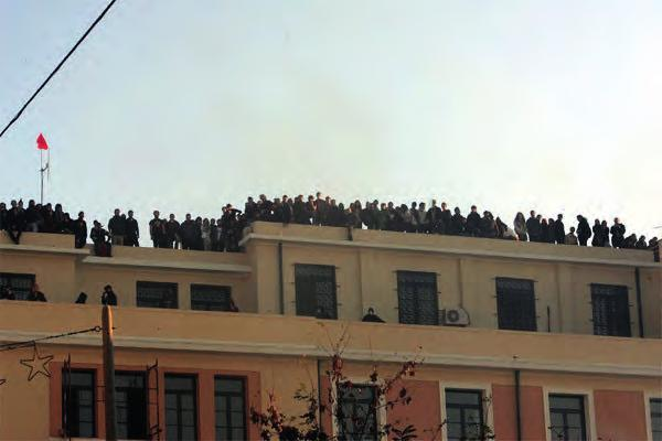 Law School of Athens, occupation during the massive riots of December 2008, caused by the unjustifiable murder of Alexis Grigoropoulos by a police officer in Exarchia, Athens.