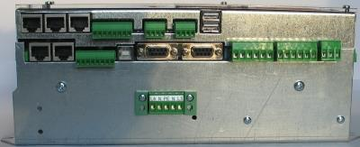 Left Side Part: (from left to right side ) Higher Floor: 3x Groupebus-RJ45, Encoder-Absolute Shaft Copy System, 2x USB-Master