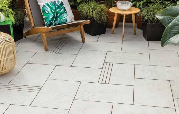 CLOISTERS MODERN ELEGANCE RECOMMENDED USE The first choice for those looking to create a modern, paved courtyard or pool setting.