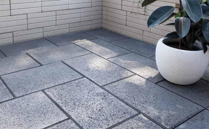 PROMENADE 45 SHARP & CONTEMPORARY RECOMMENDED USE This paver is ideal for courtyards, paths and other outdoor spaces.