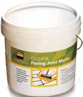 ABOUT GEOFIX Geo-Fix is an air-cured joint filler for pavers and retaining walls.