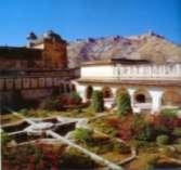 the only two gardens in the fort were designed as Mughal moonlight gardens.
