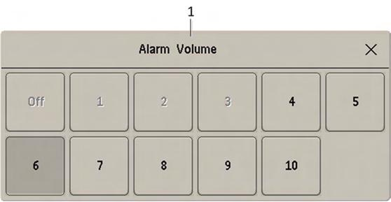 6 Alarms Standard Philips Alarms Red alarms and red INOPs: a high pitched sound is repeated once a second. Two-star yellow alarms and yellow INOPs: a lower pitched sound is repeated every two seconds.