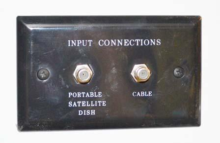 Power Switch Exterior Connection for Satellite Dish and Cable TV (Located in utility compartment) TV Signal Amplifier Power Switch (Located in an overhead cabinet or mounted on a wall near the TV)