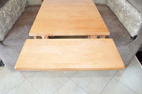 Reverse steps to convert back into dinette seating.