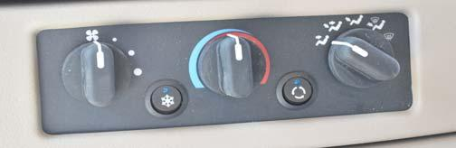 HEATER REAR COACH (AUTOMOTIVE) If Equipped To provide auxiliary automotive system heat to the rear of the vehicle while driving, turn the rear heater fan switch to the desired speed.