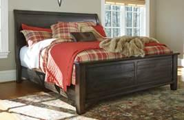 B636 Townser (Ashley Millennium HS Exclusive) Solid pine group is a Heritage Road bedroom in a traditional classics style Wood has a rough milled texture and a waxy grayish brown