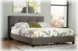Beds available: King Upholstered Bed (76/78) No box spring Cal King Upholstered Bed (78/94) No box spring Queen Upholstered Bed (74/77) No box spring B705