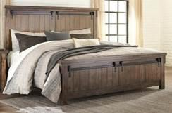 Beds available: King Sleigh Bed (56/58/97) Queen Sleigh Bed (54/57/96) B718 Lakeleigh (Signature Design) Casual rustic styling with an industrial chic vibe Made with Acacia veneers and hardwood