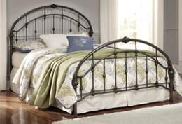 B280 Nashburg (Signature Design) Metal beds feature welded steel construction with cast ornamentation 153/181/182 have a garden arch