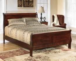 bronze color hardware and center metal drawer glides Twin and full beds also available (see youth section) Beds available: King Sleigh