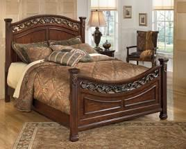 available: Queen Storage Bed (54S/57/96S) Queen Panel HB (57/B100-31) B526 Leahlyn (Signature Design) Old World bedroom made with select birch veneers and hardwood solids Glazed cherry finish has dry