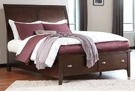 headboard with deep button tufting Cases set on traditional bun feet and thick base moldings Clear sealed drawer boxes have metal center guides and dovetailing Beds available: King Bed (56/58/97)