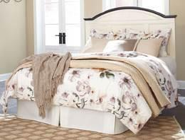 Bed (56/58/97) King/Cal King Panel HB (58/B100-66) Queen Panel HB (57/B100-31) B630 Harlynx (Ashley HS Exclusive) Urban contemporary design features a two-tone finish scheme Acacia veneers in a