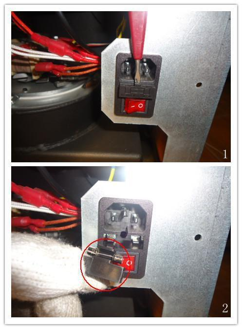 The start light or display does not light when power is on No power in stove or in the control panel.