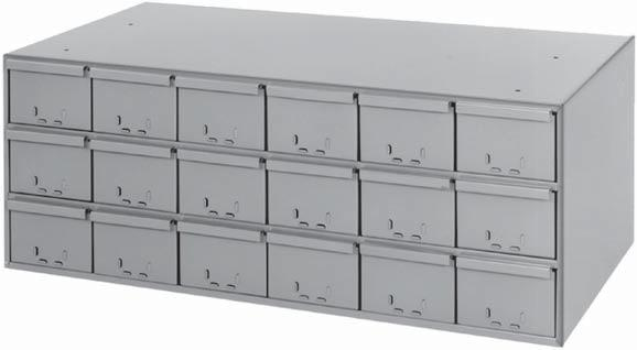 Drawer cabinets are made from prime, cold rolled steel Interlock and welded construction.
