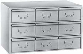 pulled out of the cabinet. All storage cabinets include drawer dividers (Part No. 12053.
