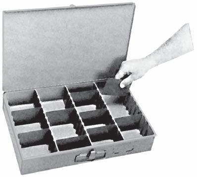 STORAGE TRAYS SERVICE TRAYS ADJUSTABLE Movable dividers for convenient creation of any