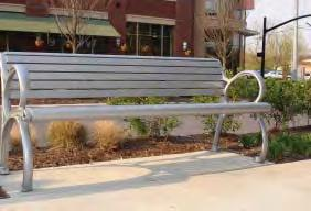 Benches Benches should be located in courtyards and along major pedestrian paths, associated with landscaping and shading, and