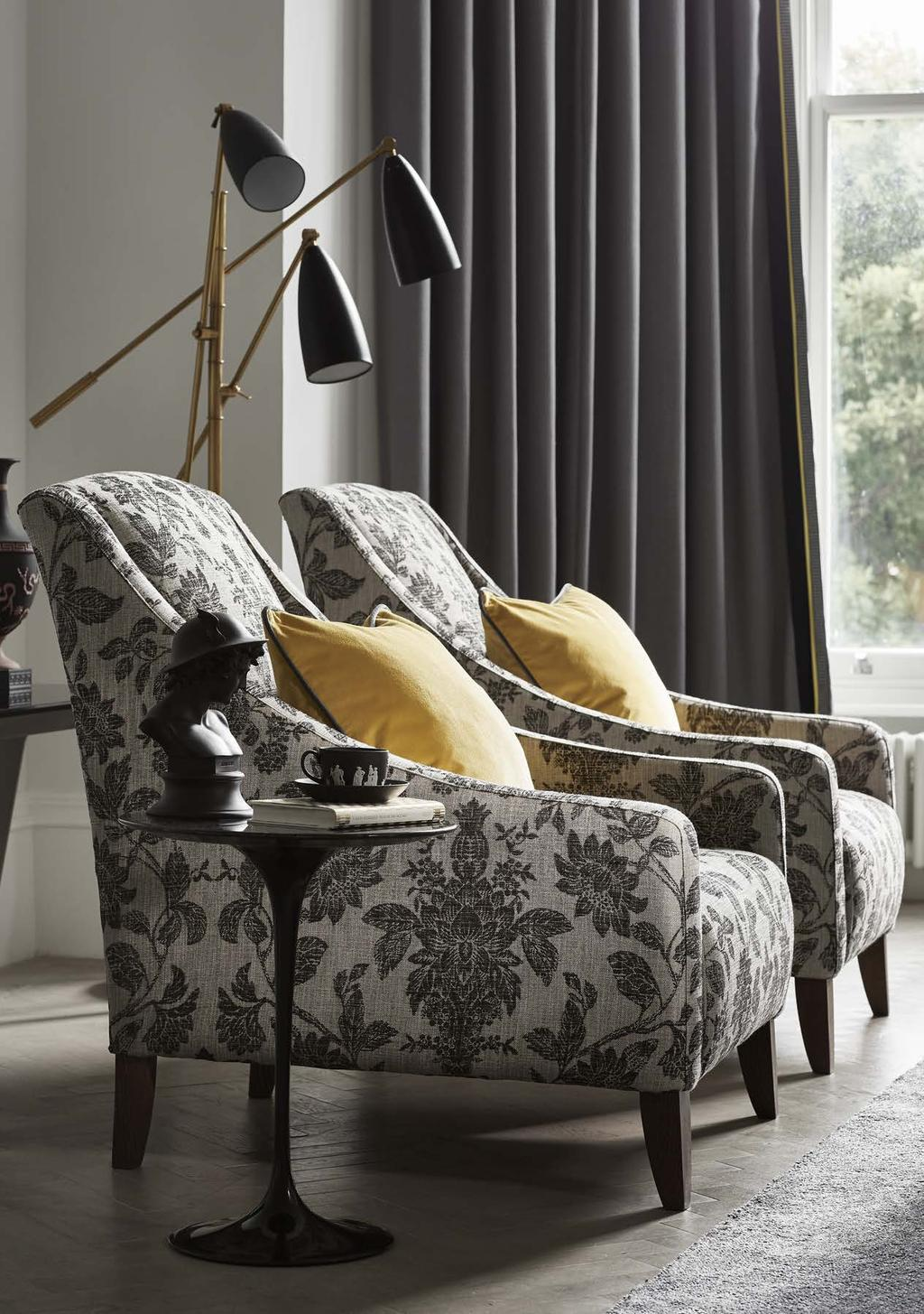 7 CUSHION: New Manor Park Col. 38 CHAIRS: Tonquin Weave Col.