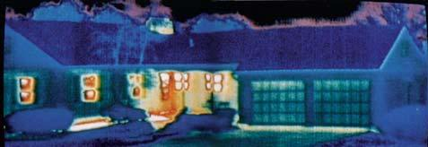 ..in this case, lost heating dollars. This thermal photograph shows heat leaking from a house during those expensive winter heating months.