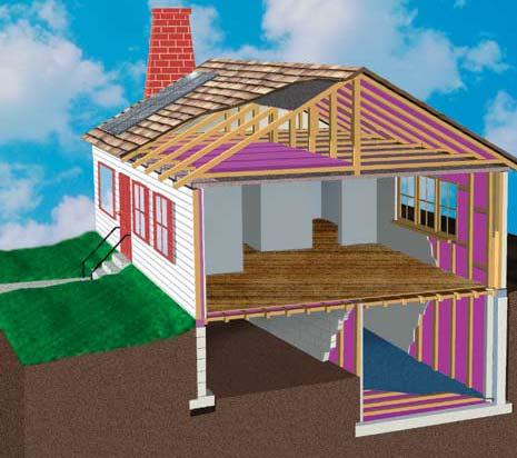 Insulation and Sealing Air Leaks C Insulation Attic Walls Insulation and Sealing Air Leaks 4 Crawl space Floors Basement