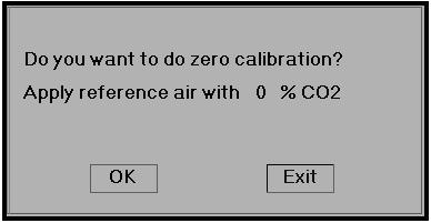 Please apply the reference air with 0% CO2, the air in the well ventilated room usually can be regarded as the air with 0% CO2.