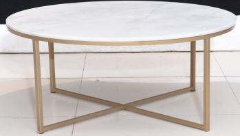 COFFEE TABLE RECT CLEAR WALNUT Ruang Tamu