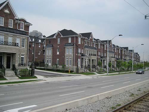Examples of Medium Density Buildings at Road Edges Townhouses with front