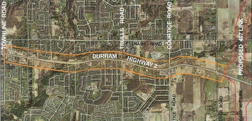 Purpose of the Study - Durham Region and Clarington planning policy identify