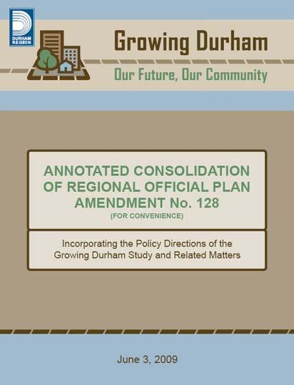 Official Plan into conformance with the Province s Places to Grow policy -