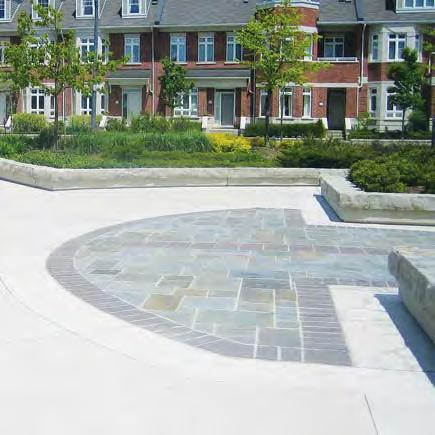 coloured concrete asphalt Prohibited paving materials include: imprinted asphalt patterned concrete unit pavers woodchips pea gravel limestone screenings.