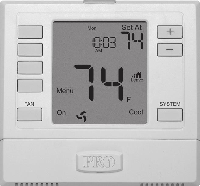 thermostat, then push gently until the thermostat snaps in place.