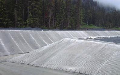 OUR PRODUCTS Fabric Formed Concrete Armor Slightly dimpled double-wall woven nylon geotextile resembling pocket-like forms pumped with a water rich cement mixture.