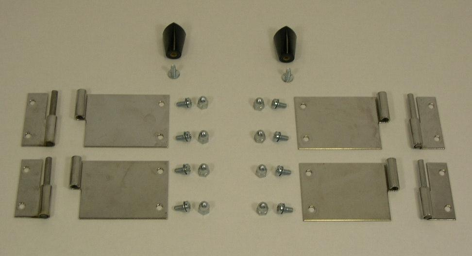 Door Hardware Kit P/N 61380 The parts below are all included in kit part