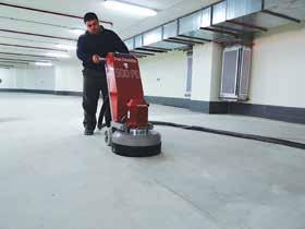 Removal work of old coatings up to 4 mm (0,16in) We recommend using our grinders Scan Combiflex 330, Scan Combiflex 450, Scan Combiflex 450NS,