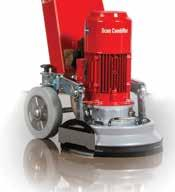 If the skirting boards are removed before grinding, the need for a hand held grinder is eliminated.