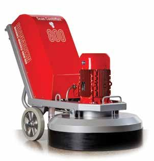 The SC 800 has three grinding heads, which spin in a counter-rotating configuration for increased efficiency and smooth operation.