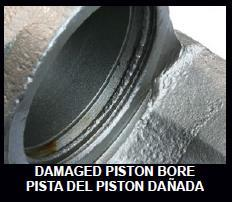 REJECT If the piston bore is galled, dented, or otherwise has damage that cannot be repaired by honing then the core should be scrapped.